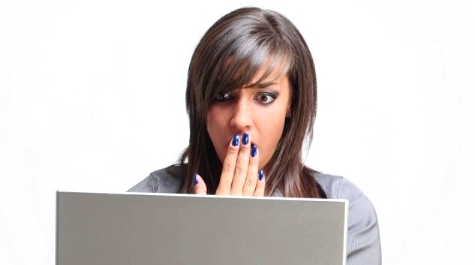 Shocked Woman on Laptop' /